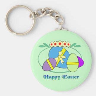 Huevos de Pascua felices Llavero Redondo Tipo Pin