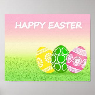 Huevos de Pascua felices Impresiones