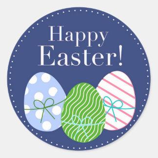 Huevos de Pascua felices Etiquetas Redondas