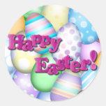 Huevos de Pascua felices Pegatinas Redondas