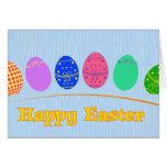 Huevos de Pascua felices Tarjetón