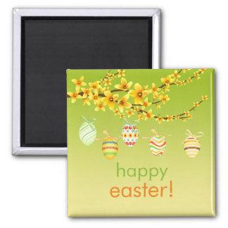 Huevos de Pascua, imán de la rama del Forsythia