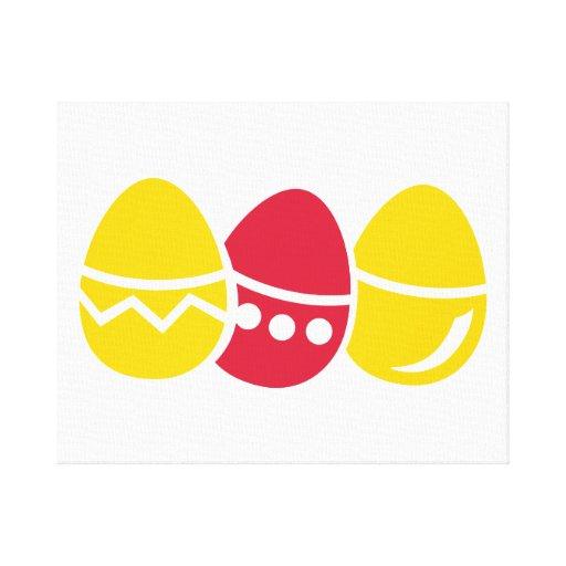 Huevos de Pascua Impresiones En Lienzo Estiradas