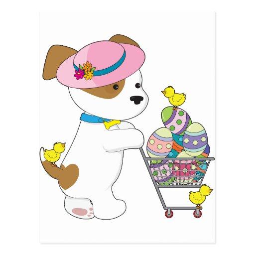 Huevos de Pascua lindos del perro Postales