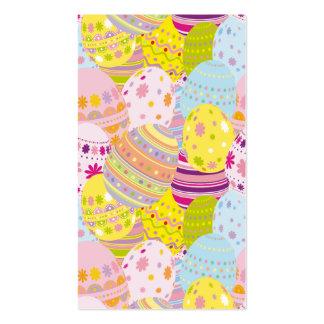 Huevos de Pascua multicolores Plantilla De Tarjeta Personal
