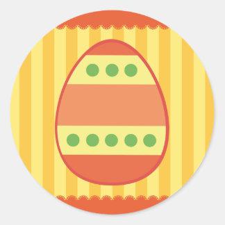 Huevos de Pascua Etiquetas Redondas