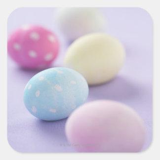 Huevos de Pascua Pegatina Cuadrada