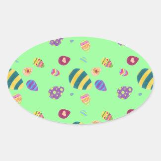 Huevos de Pascua Pegatina Ovalada