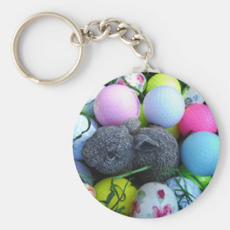 Huevos de Pascua, pelotas de golf del conejo Llaveros