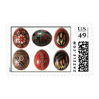 Huevos de Pascua pintados a mano del ucraniano
