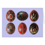 Huevos de Pascua pintados a mano del ucraniano Felicitaciones