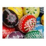 Huevos de Pascua pintados a mano Postal