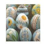 Huevos de Pascua pintados azul Bloc