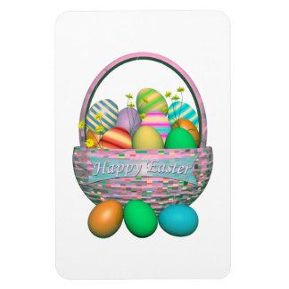 Huevos de Pascua pintados en cesta Iman De Vinilo