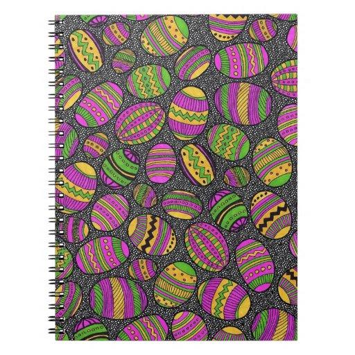 Huevos de Pascua pintados Libros De Apuntes Con Espiral