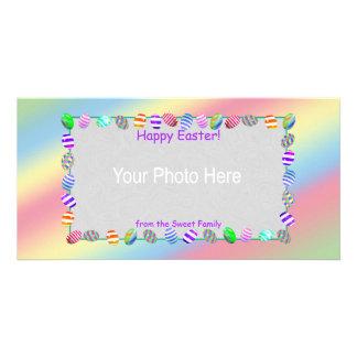 Huevos de Pascua pintados Tarjetas Fotograficas Personalizadas