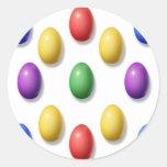 Huevos de Pascua plásticos Etiquetas Redondas