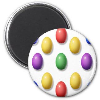 Huevos de Pascua plásticos Imán Redondo 5 Cm