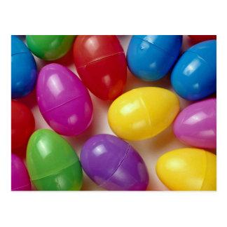 Huevos de Pascua plásticos Postales