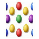 Huevos de Pascua plásticos Tarjeta Postal