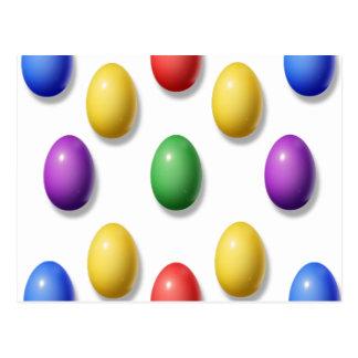 Huevos de Pascua plásticos Tarjetas Postales