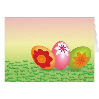 Huevos de Pascua rosados amarillos Tarjeta De Felicitación
