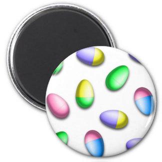 Huevos de Pascua teñidos inmersión Imanes De Nevera