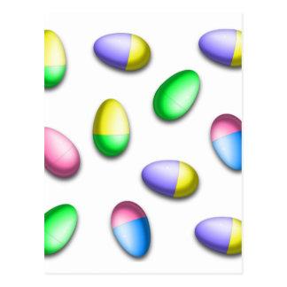 Huevos de Pascua teñidos inmersión Postal