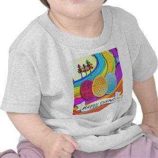 Huevos de Pascua y conejos de conejito coloridos Camisetas
