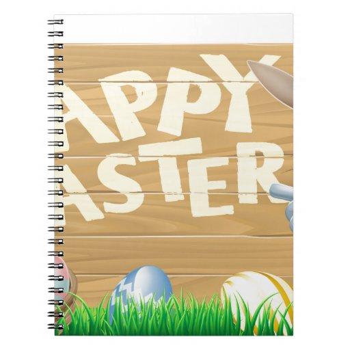 Huevos de Pascua y muestra del conejito Libro De Apuntes Con Espiral