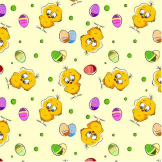 Huevos de Pascua y polluelos del bebé Adorno Fotoescultura