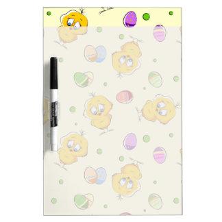 Huevos de Pascua y polluelos del bebé Pizarras Blancas De Calidad