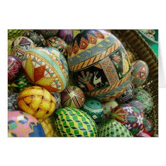 Huevos de Pysanky Pascua Tarjeta De Felicitación