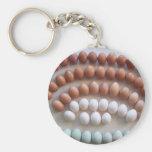 Huevos del arco iris para las gallinas raras de la llaveros