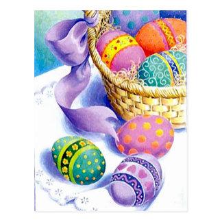 Huevos del color de Pascua Postal