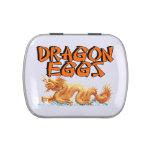 Huevos del dragón frascos de dulces