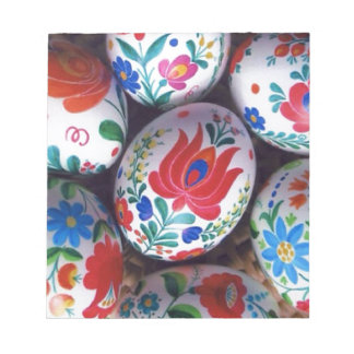 Huevos del kalocsai de los saludos de Pascua Blocs De Notas
