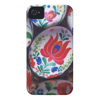 Huevos del kalocsai de los saludos de Pascua iPhone 4 Carcasas