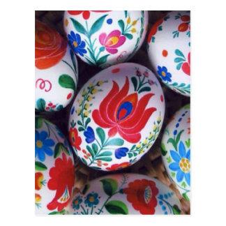 Huevos del kalocsai de los saludos de Pascua Tarjetas Postales
