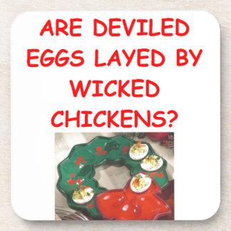 huevos deviled posavasos de bebidas