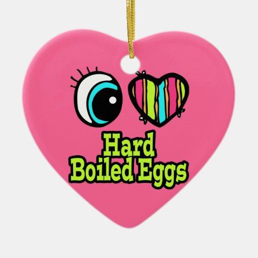 Huevos duros del ojo del amor brillante del adorno de cerámica en forma de corazón