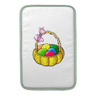 huevos en cesta amarilla con ribbon png funda  MacBook