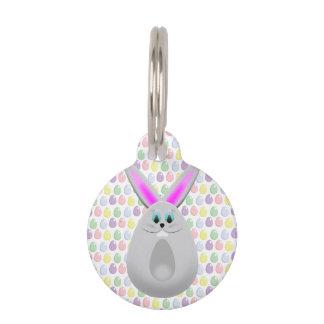 Huevos en colores pastel del conejito de pascua identificador para mascota