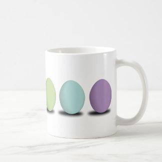 Huevos en colores pastel tazas
