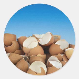 Huevos Etiquetas Redondas