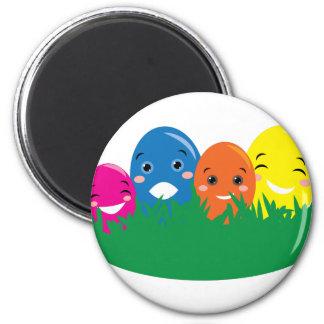 Huevos felices imán redondo 5 cm