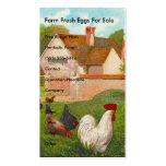 Huevos frescos de la granja para la venta tarjeta de visita