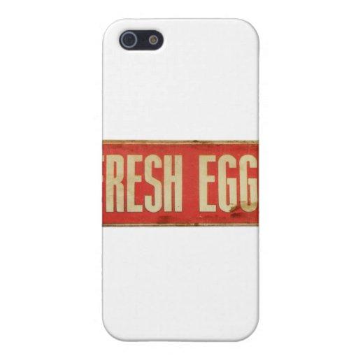 Huevos frescos iPhone 5 cárcasas