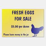 ¡Huevos frescos para el personalizable de la muest