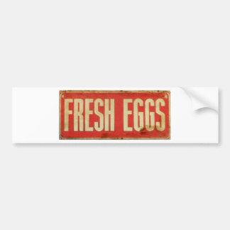 Huevos frescos pegatina para auto